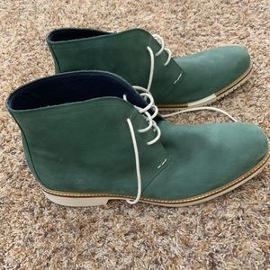 Cole Haan Leather Boots Green